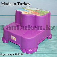 """Табурет-подставка (ступенька) детская двухуровневая """"Динозаврики"""" фиолетовая"""