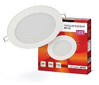 Светильник светодиодный RLP-VC 12Вт 230В 6500К 960лм 145мм IP40 панель круглая бел. IN HOME 4690612024530