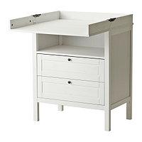 Пеленальный стол/комод СУНДВИК белый ИКЕА, IKEA, фото 1