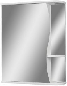 Шкаф-зеркало Волна 1-55 левый  АЙСБЕРГ