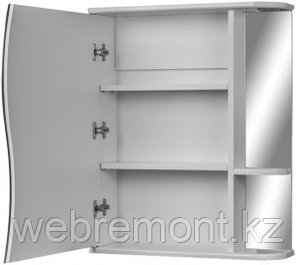 Шкаф-зеркало Волна 1-55 левый  АЙСБЕРГ, фото 2