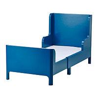 Кровать детская раздвижная БУСУНГЕ, классический синий, ИКЕА, IKEA , фото 1