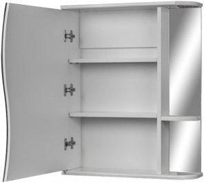 Шкаф-зеркало Волна 1-60 левый  АЙСБЕРГ, фото 2