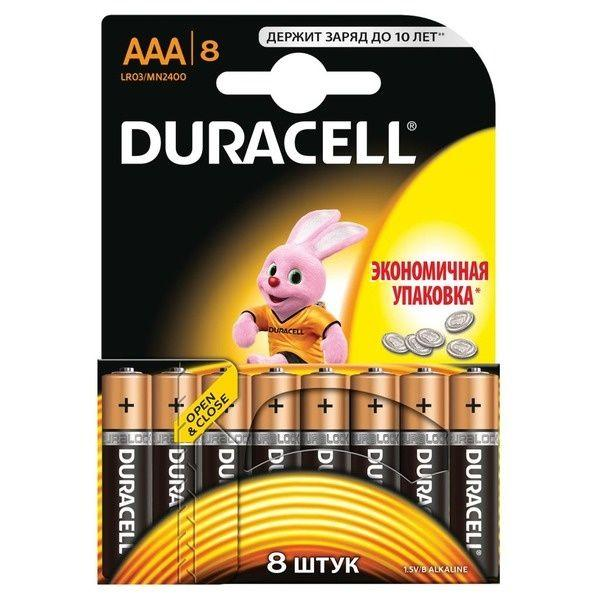 Батарейка DURACELL Basic AAA LR03 Мизинчиковые (8шт)