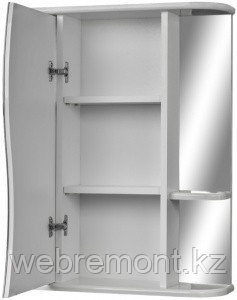 Шкаф-зеркало Волна 2-60 левый АЙСБЕРГ, фото 2
