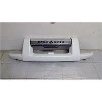 Защита переднего бампера (губа) на Land Cruiser Prado 120 2003-09 Белый