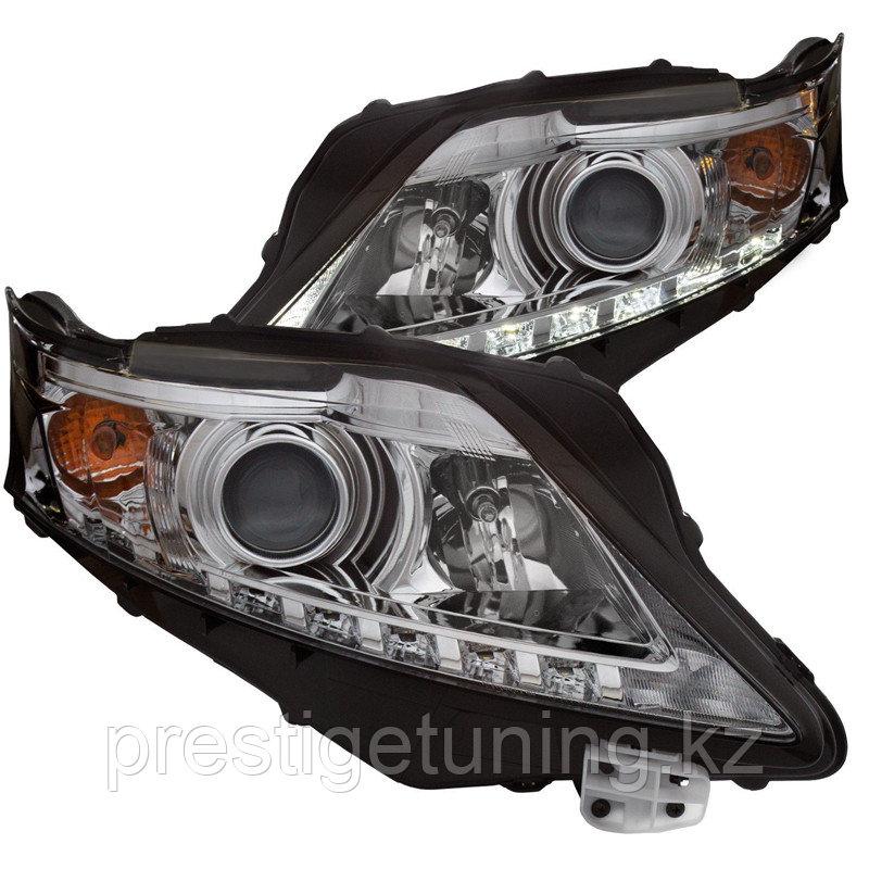 Альтернативная передняя оптика на Lexus RX 2009-13 с ДХО