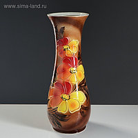 """Ваза напольная """"Осень"""" лепка, роспись, 57 см, керамика"""