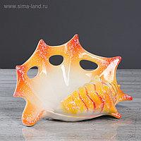 """Ваза настольная """"Ракушка"""", разноцветная, 18 см, микс, керамика"""
