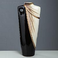"""Ваза напольная """"Сенат"""", коричневая, керамика, 52 см"""