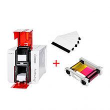 Карточный принтер Primacy в подарок 100 классических белых карт + 1 Цветная лента для принтера Evoli