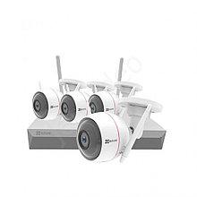 Готовый комплект видеонаблюдения на 4 камеры Ezviz CS-BW2824-B1E10