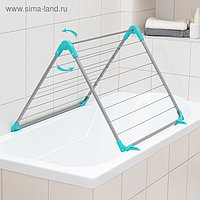 Сушилка для белья на ванну складная, рабочая длина 10 м