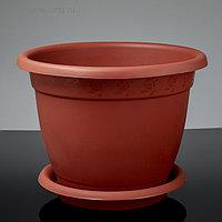 Горшок с поддоном «Борнео», 25,8 л, цвет терракотовый