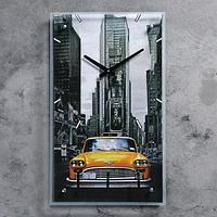 """Часы настенные, серия: Транспорт, """"Ретро авто"""", стекло, 35х60 см, микс"""