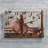 "Часы настенные прямоугольные ""Вазы"", 25х35 см"