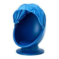 Кресло детское вращающееся ИКЕА ПС ЛЁМСК  синий, голубой