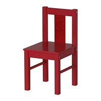 Стул детский КРИТТЕР красный ИКЕА, IKEA, фото 1