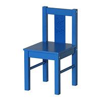 Стул детский КРИТТЕР, синий, ИКЕА, IKEA