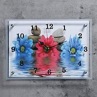 """Часы настенные, серия: Цветы, """"Цветы в воде"""" 25х35 см, микс"""