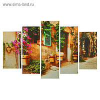 "Картина модульная на подрамнике ""Цветочный декор"" 2-25х52, 2-25х66,5, 1-25х80, 80*140 см"