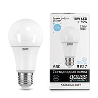 23230    Gauss лампа Elementary  A60 10W E27 6500K 1/10/50