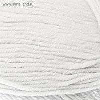 """Пряжа """"Cotton Gold"""" 55% хлопок, 45% акрил, 330м/100гр (55 белый)"""