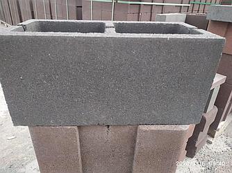 Пустотелые гладкие блоки (390х190х188 толщина стенки 20 мм)