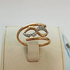 Золотое кольцо «бесконечность» / 20 размер