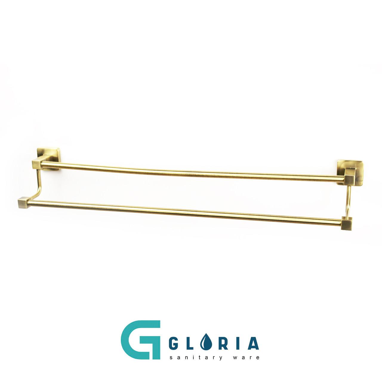 Полотенцедержатель двойной (бронза) GL241