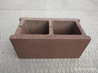 Пустотелые гладкие блоки (390х190х188, толщина стенки 30 мм, цветные)
