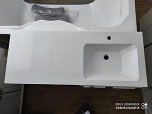 Раковина с тумбой и столешницей Космос (ЛМДФ) правая 120  см. над стиральной машиной. РФ, фото 2
