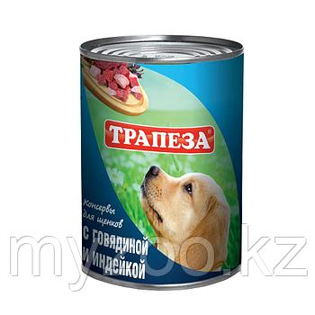 ТРАПЕЗА влажный корм для щенков с говядиной и индейкой 350 гр