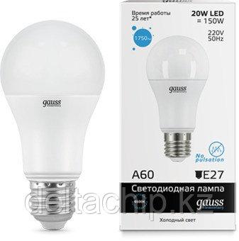 23239   Gauss лампа Elementary A60 20W E27 6500K
