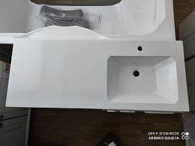 Раковина с тумбой и столешницей Космос (МДФ эмаль) правая 120  см. над стиральной машиной. РФ, фото 2