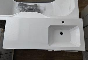 Раковина с тумбой и столешницей Космос (ЛМДФ) левая 110  см. над стиральной машиной. РФ, фото 2