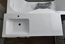 Раковина с тумбой и столешницей Космос (ЛМДФ) левая 120  см. над стиральной машиной. РФ, фото 2