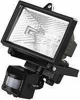 Прожектор галогеновый СВЕТОЗАР с датчиком движения, с дугой крепления под установку, цвет черный, 150Вт