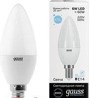 33136   Gauss лампа Elementary Candle  6W E14 6500K