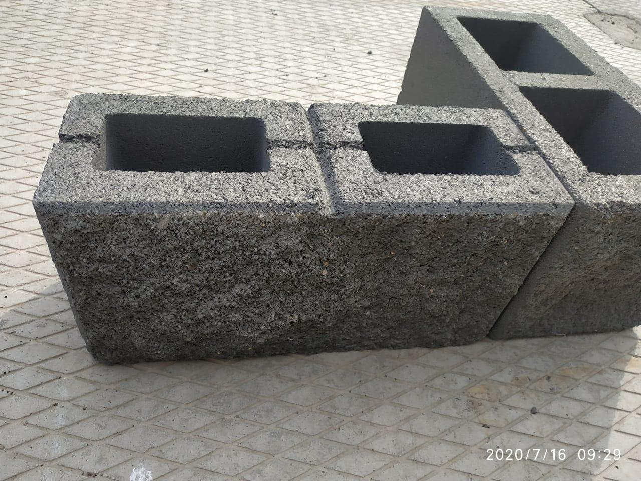 """Сплитерный блок """"рваный"""" (190х190х188, разноцветный)"""