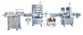 Автоматическая производственная линия для упаковки бутылок (укупорочная машина)
