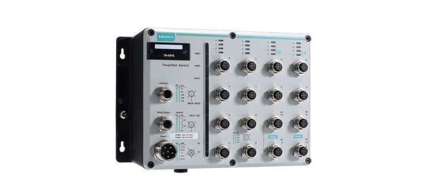 Промышленный коммутатор MOXA TN-5518A-2GTXBP-WV-T
