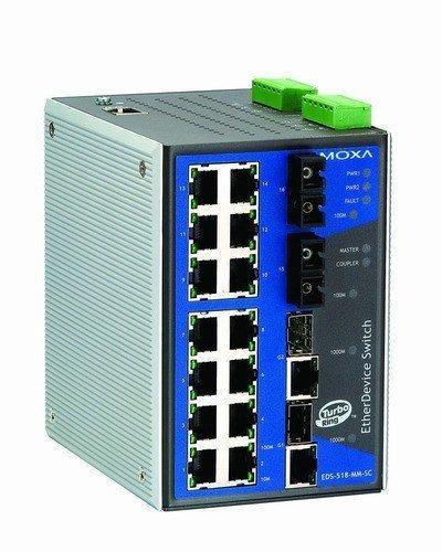 Промышленный коммутатор MOXA EDS-518A-SS-SC-80