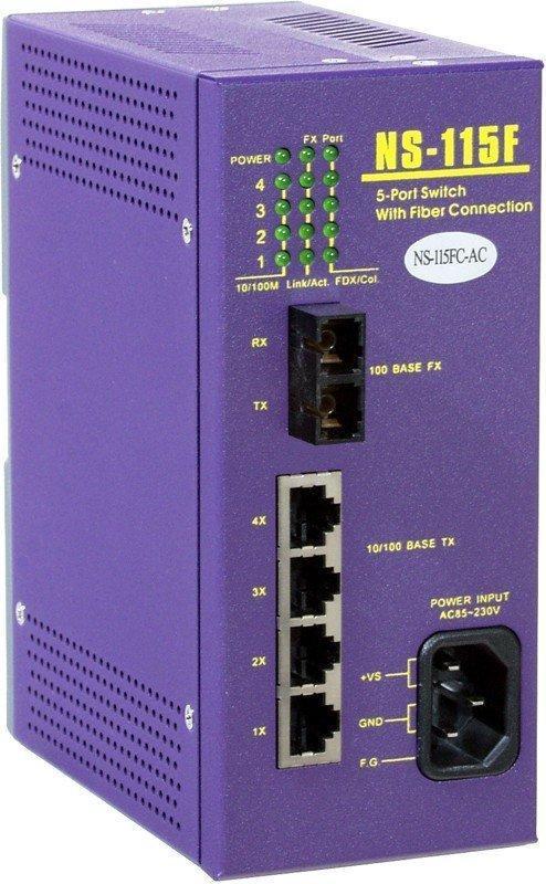 Промышленный коммутатор ICP DAS NS-115FC-AC
