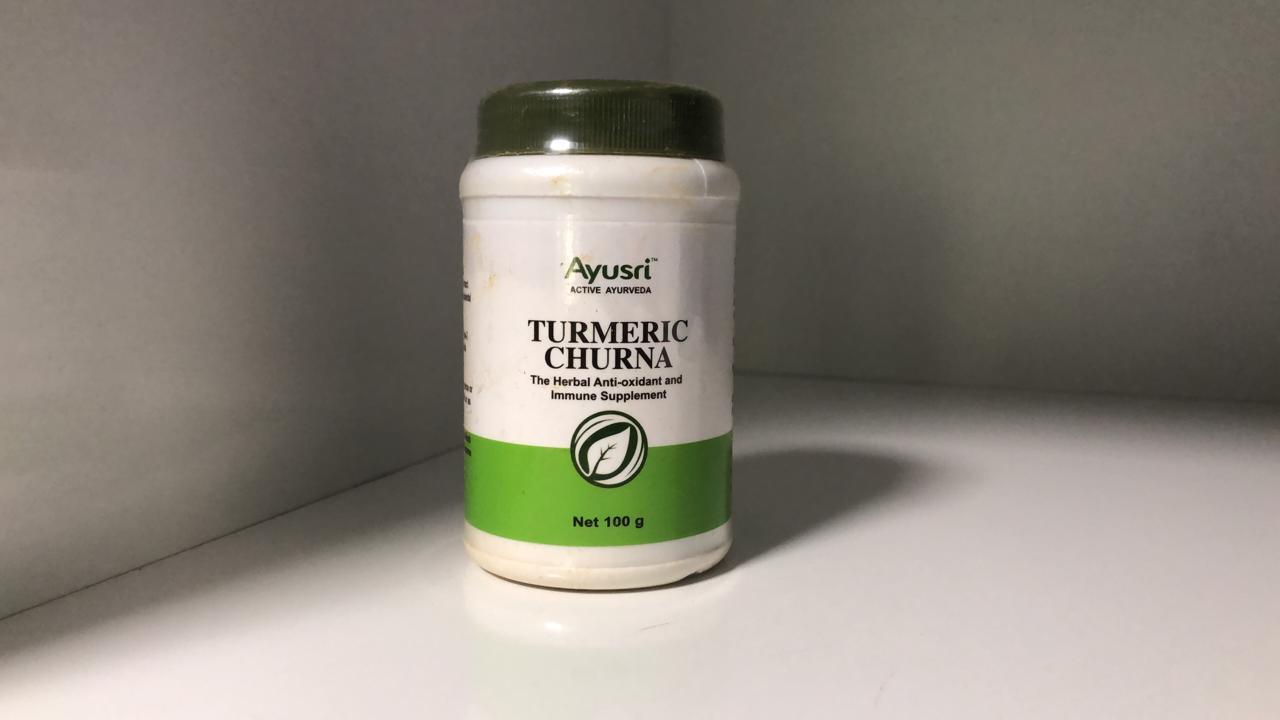 Турмерик чурна, Turmeric churna , Куркума порошок ,100 гр, Ayusri