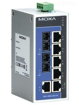Промышленный коммутатор MOXA EDS-208A-M-ST-T