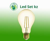 Лампа GLDEN-A75S-13-230-E27-2700 Золотая