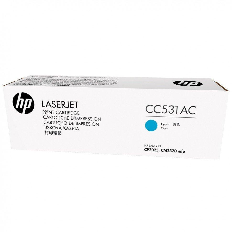 Картридж HP CC531AC
