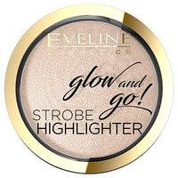Хайлайтер для лица запечённый Eveline Glow And Go, тон 02 gentle gold (комплект из 2 шт.)