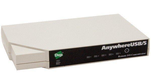Концентратор Digi AnywhereUSB 5 port AW-USB-5 (AW-USB-5-W)
